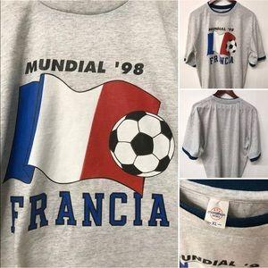 VTG Mundial 1998 Francia Soccer Futbol Shirt XL
